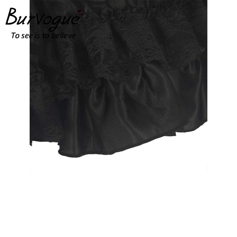 Burvogue New Black Midi Steampunk- ի շրջազգեստ կանանց - Կանացի հագուստ - Լուսանկար 3