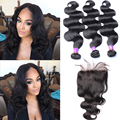 "8A Brazilian Virgin Hair With Closure 5x5"" Lace Closure With Bundles Rosa Queen Hair Products Brazilian Body Wave With Closure"