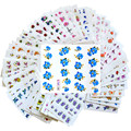 55 folhas Nail Art mista flor decalques transferência de água Nail Stickers Manicure decoração Foil polonês ferramentas unhas beleza BJC055