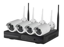 CCTV System 720P NVR 4PCS P2P 720P HD Outdoor Wireless Wifi IP CCTV Camera IR Night
