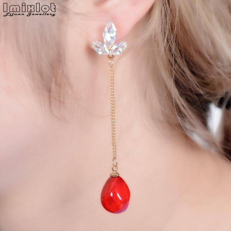 Fashion Boucle D'oreille Femme Pendante Cute Ear  Earrings Female Models Long Drop Simulated-pearl Dangle Earrings Brincos