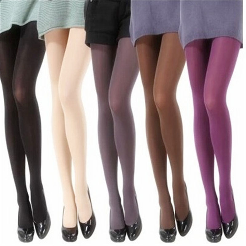 Buy 2018 Spring 80D Velvet Women Tights Solid Color Women Stockings Pantyhose Casual Collant Silk Stockings Autumn Female Hosiery