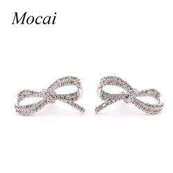 Brand design summer cute bowknot stud earrings cubic zirconia shining statement ear earring luxury jewelry for.jpg 250x250