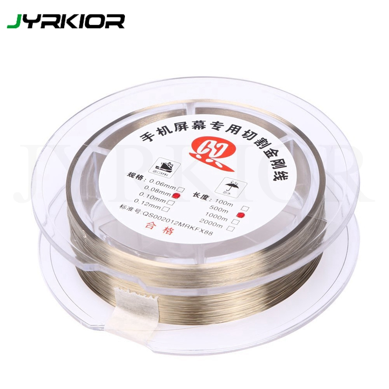 0.05 / 0.06 / 0.08 / 0.1mm Gold Molybdenum Wire LCD Cutting Glass Of Separation Line For IPhone Samsung Mobile Phone Repair