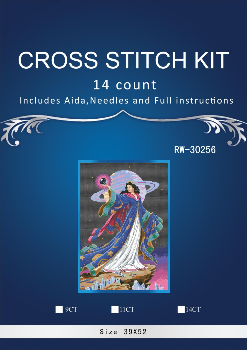 Beautiful Lovely Counted Cross Stitch Kit Alluring Sorceress Earth Universe Fairy at Night dim 72425 41X54CM, 14CT image