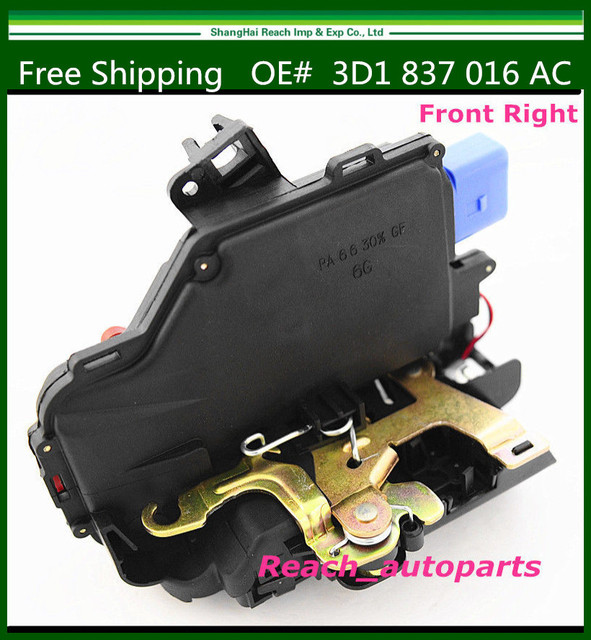 9Pin New Front Right Passenger Side Door Lock Latch For VW Jetta Golf GTI MK5 3D1 837 016 AC 3D1837016 1TD837016A