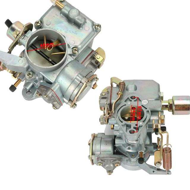 Partol Car Carburetor Carb Engine 34 PICT-3 E-choke Replacement Parts for  Volkswagen VW Air-cooled Type 1 Dual Port 1600cc
