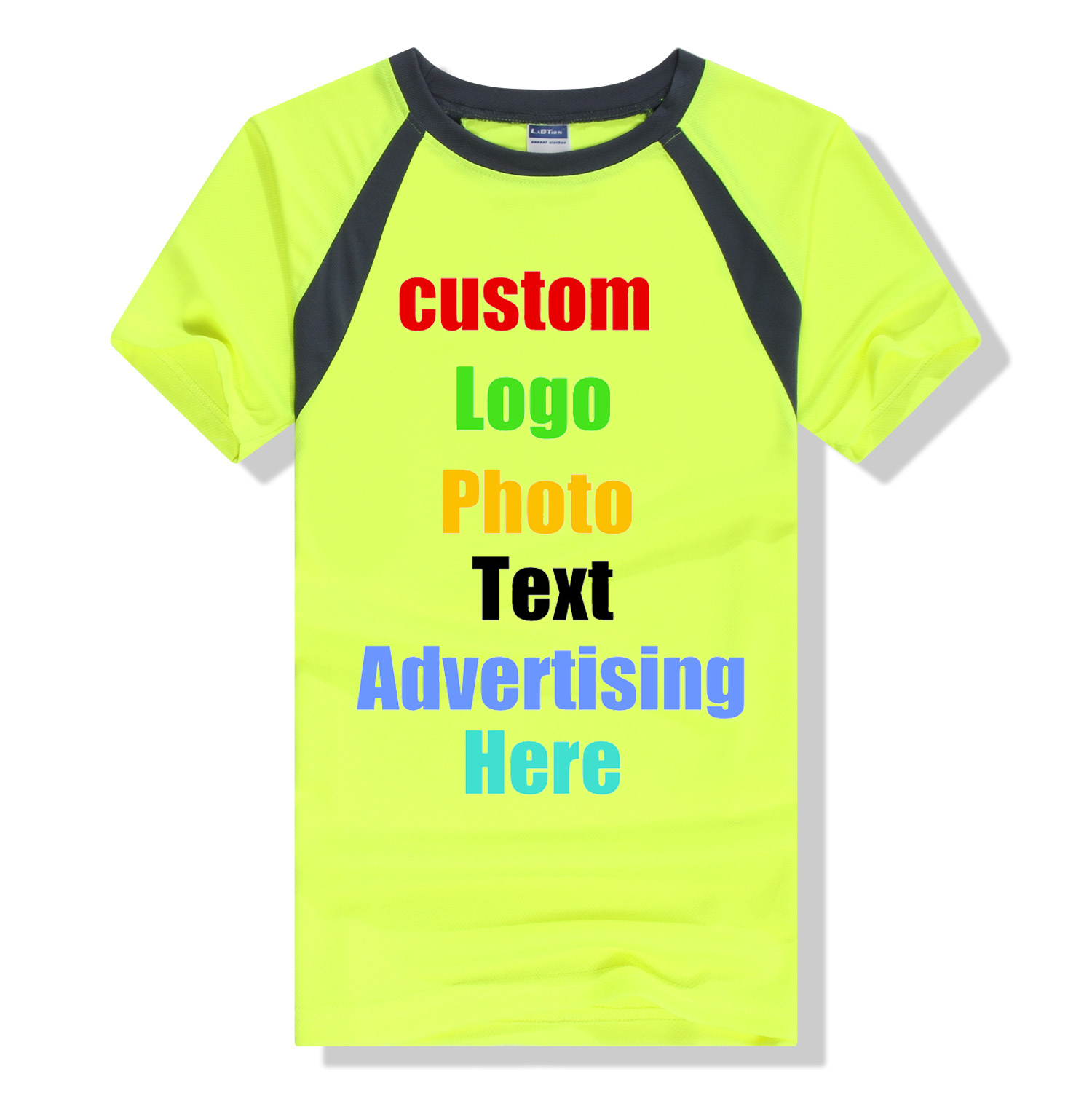 Custom Logo Photo Printed Sportwear Men Women Unisex Quick Dry T