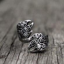 Bague Viking en acier inoxydable pour hommes, bijou nordique avec nœud de la Trinity