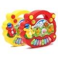 Popular de la venta del bebé niños granja animal piano de juguete instrumento musical para niños de aprendizaje de dibujos animados de piano granja educativa toys regalo