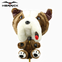 Golf wood club headcover unisex Animal plush golf club head cover driver golf club cover