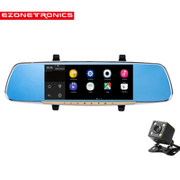 EZONETRONICS 7 Touch Screen Car Rearview Mirror Monitor With GPS DVR FM Transmitter Android 4 4