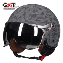 New GXT Vintage Motorcycle Helmet Retro Motorbike Scooter Moto Half Helmets For Harley helmet MOMO Imitation leather 288