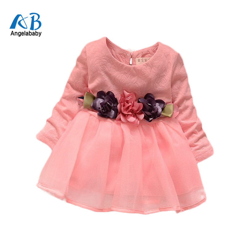 2018 winter newborn fancy infant baby dresses girl frocks designs party wedding with long sleeves jacadi 1 year birthday dresses
