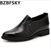 BZBFSKY Tangnest Luxury Brand Men Oxford Flats Pu Leather Male S Elevator Shoes Solid Slip On