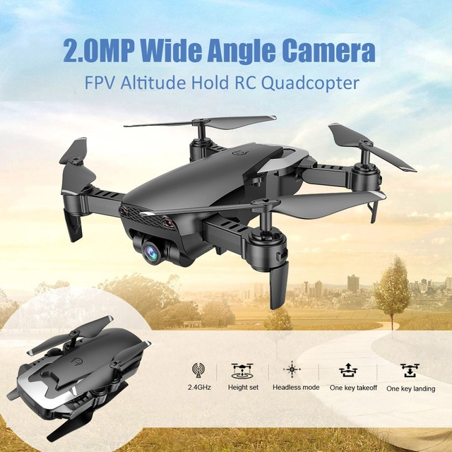 Drone with 720P Wide-angle WiFi Camera HD Foldable RC Mini Quadcopter Helicopter