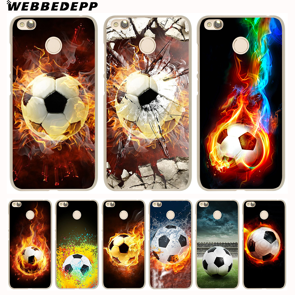 WEBBEDEPP Fire Football Soccer Ball Cover Case for Xiaomi Mi6 5S 5X A1 Redmi 4X 4A 5A 5 Plus 4 3 Pro 3S Notr 4 3 Pro 2