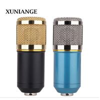 XUNIANG condenser microphone cross border mobile phone computer recording network karaoke condenser microphone BM800 with gold r