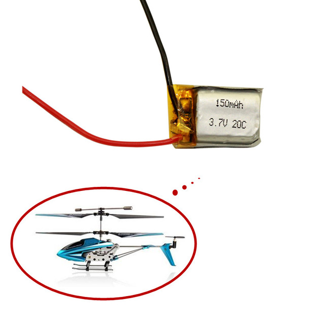 3.7V <font><b>150mAh</b></font> Lipo <font><b>battery</b></font> For Syma S107 S107G 1S 3.7V <font><b>150mAh</b></font> Li-Po <font><b>Battery</b></font> Without plugs <font><b>3.7</b></font> <font><b>V</b></font> 150 mah Helicopter Part 1PCS image