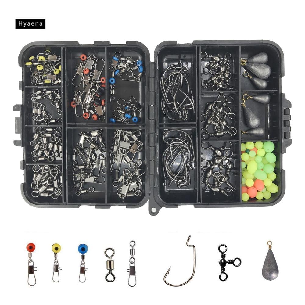 Hyaena 160pcs / Box 낚시 액세서리 키트 지그 후크 낚시 - 어업