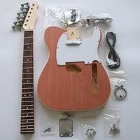 Tele TL Style Electric Guitar DIY Kit Set Guitarra Durable Basswood Body Rosewood Fingerboard Maple Neck