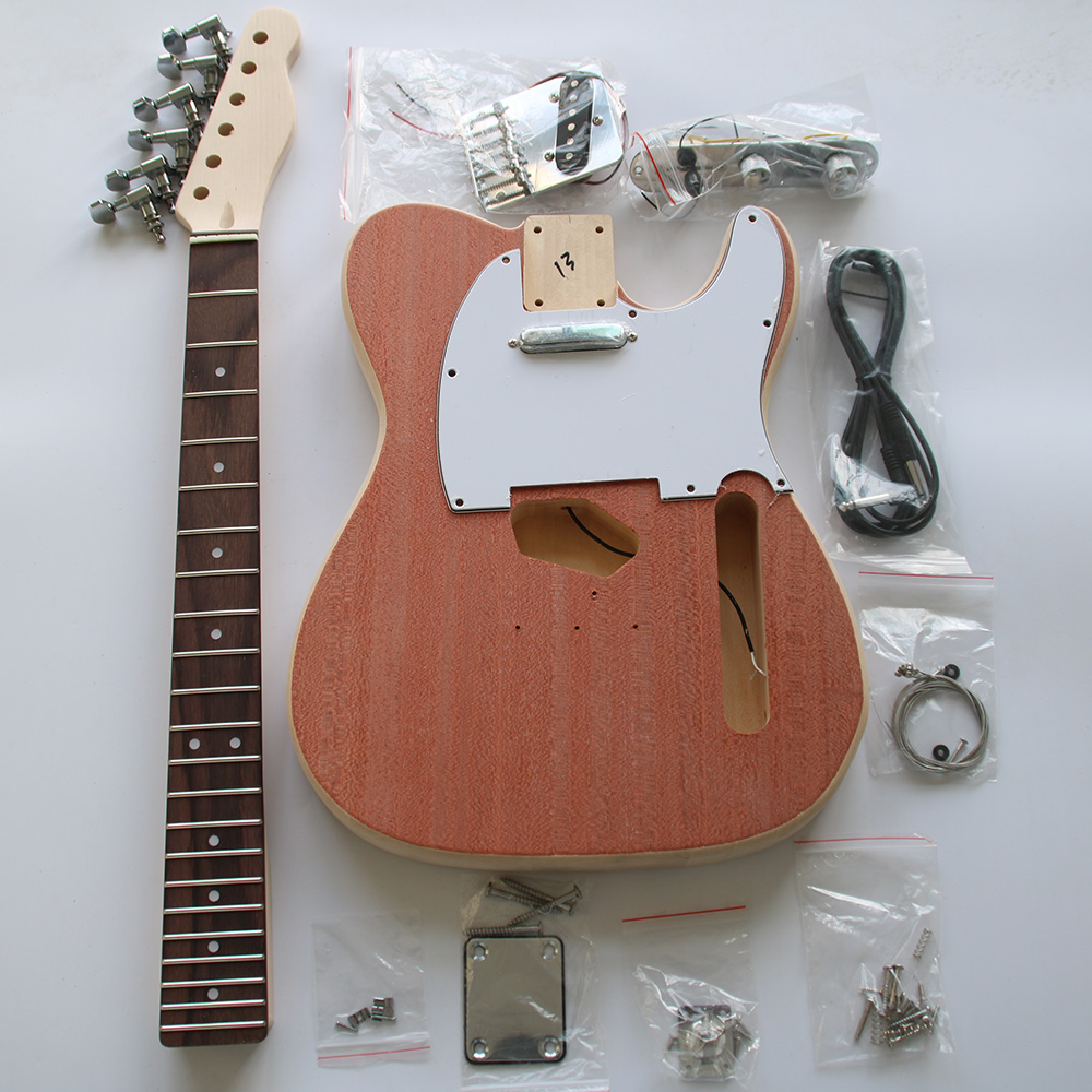 Tele TL Style Electric Guitar DIY Kit Set Guitarra Durable Basswood Body Rosewood Fingerboard Maple Neck With Guitar Accessories free shipping telec electric guitar natural tl guitar maple body and main bearing guitars oem guitarra eletrica telecaster