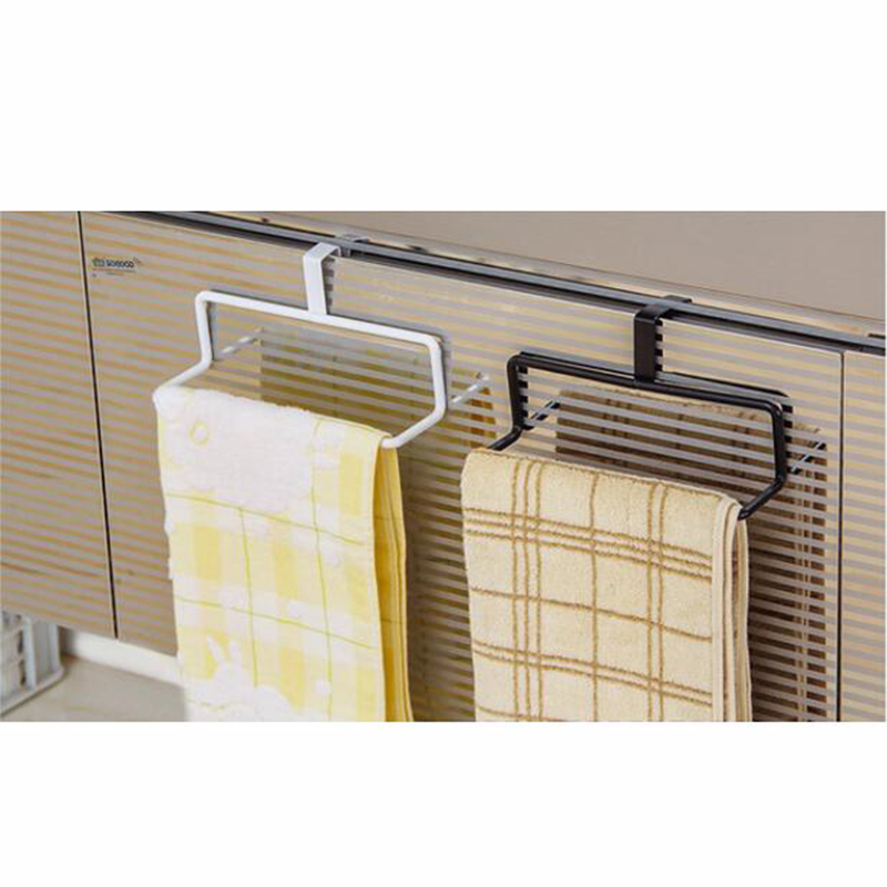 2016 Multi Function Door Back Type Single Pole Towel Rack The Kitchen  Non Trace Free Cabinet Cloth Hanging Bar Bathroom Towel