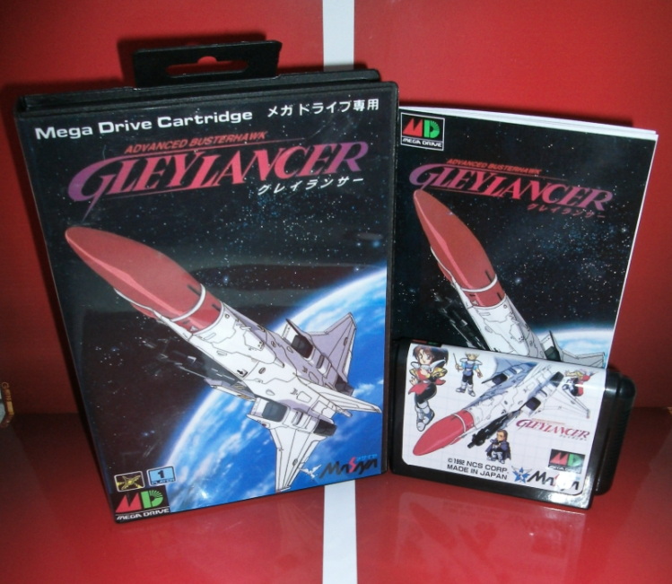 Juegos de Sega tarjeta de Gley Lancer con Caja y Manual para Sega MegaDrive Cons
