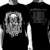 Camisas rudes t gildan tripulação pescoço curto-luva cordeiro de deus turnê guerra do punk camiseta de verão para homens
