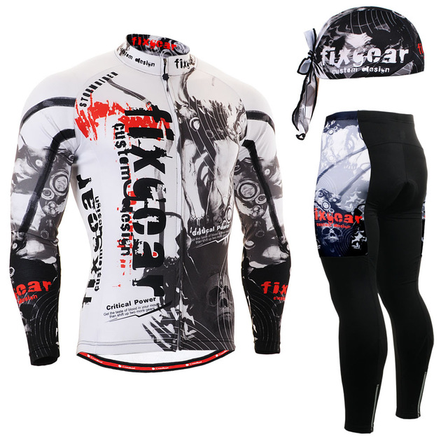 ФОТО Life on Track Men's Race Anti-Sweat Long Sleeve Cycling Jersey Jacket 3D Padded Pants Sets Breathable  Bike Bicycle Suits