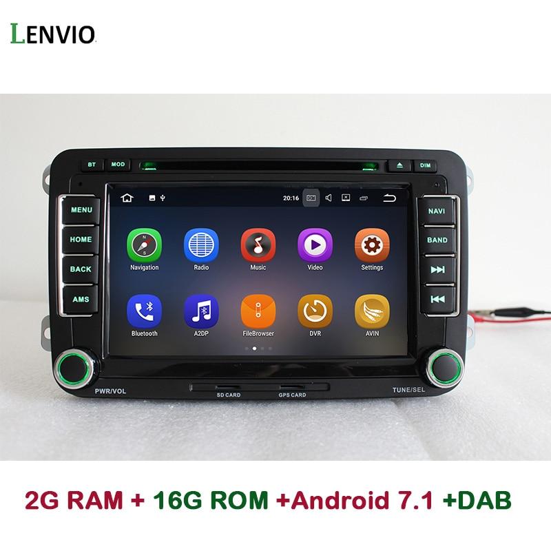 Lenvio 2GB RAM 2 Din Universal Android 7.1 CAR GPS DVD Player For Universal Volkswagen VW GOLF 5 6 PASSAT CC T5 Bora Jetta WIFI