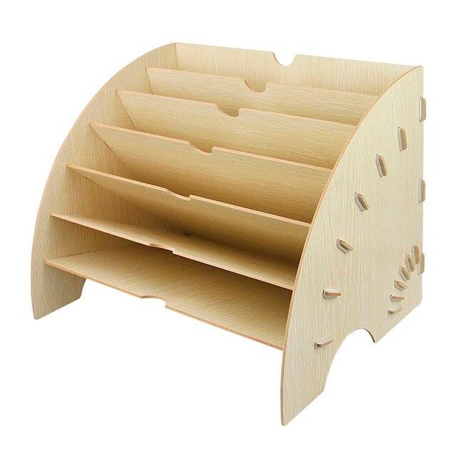 selezione migliore c2b47 d1918 US $39.72  Eco friendly Scava Fuori Da Scrivania Ufficio di Legno  Bugigattolo Dormitorio Porta Documenti Storage Box Magazine Holder in  Eco-friendly ...