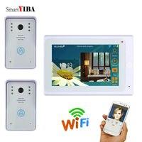 SmartYIBA 7White Video Door Intercom System Android IOS APP Wifi Video Doorbell Door Eye Doorphone Kits For Home Protection