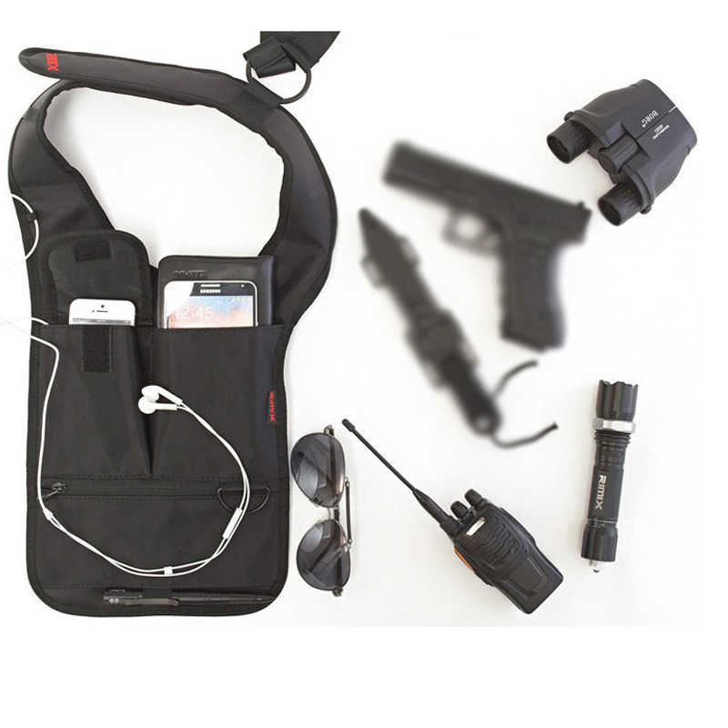 FBI agents sac à dos furtif vaudou tactique uk sac à dos sog sacs tactiques theftproof armpit sac vêtements noir molle poches