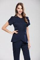 Moda Tasarım Hastane Spa Tıbbi Güzellik Salonu Bodur Setleri Kadınlar Slim Fit Diş Kliniği Workwear Üniforma Tıbbi Fırçalayın Suits