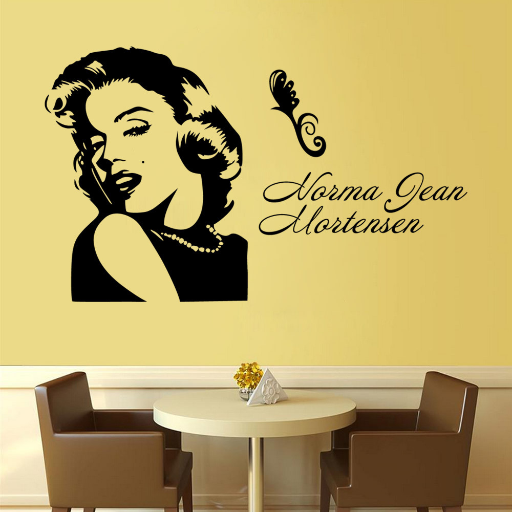 Sketch Sexy Marilyn Monroe DIY Art Wall Stickers For Living Room ...