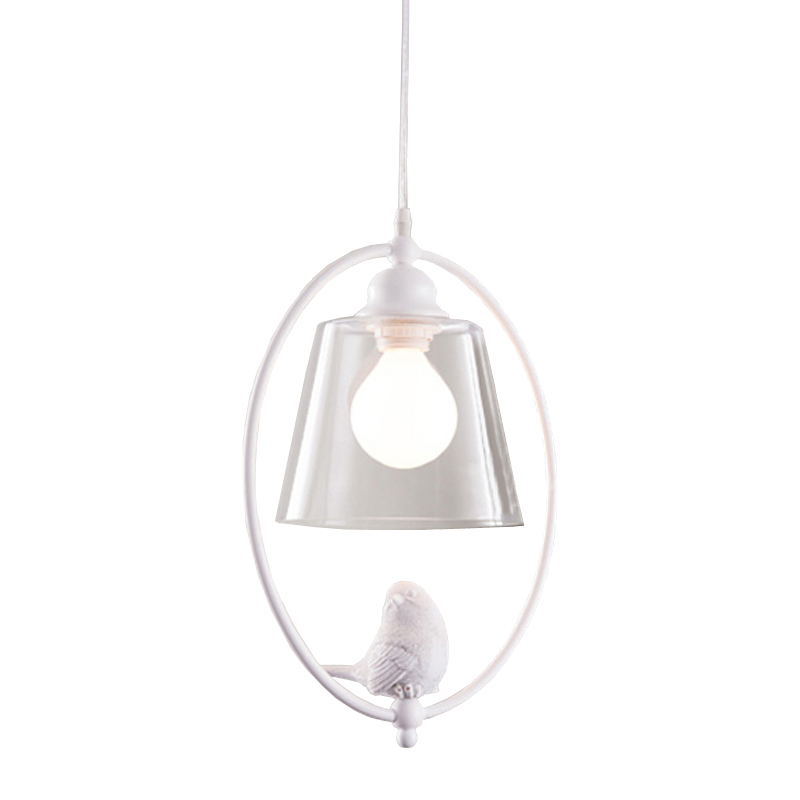 The Nordic simple  birds Vintage Pendant Lights American Clean Glass Pendant Lamp E27  Light Bulb Dinning room