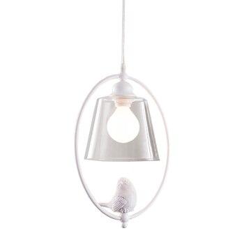 The Nordic simple  birds Vintage Pendant Lights American Clean Glass Pendant Lamp E27  Light Bulb Dinning room modern nature white sea shell capiz e27 bulb pendant lamp nordic romantic diy campanula dinning room pendant light fixture