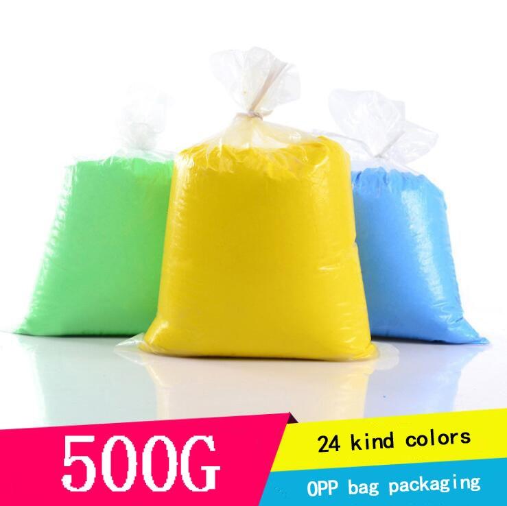 500g/Bag Polymer Clay Super Light DIY Modelling Clay Slime Soft Intelligent Plasticine Learning Education Toys For Children