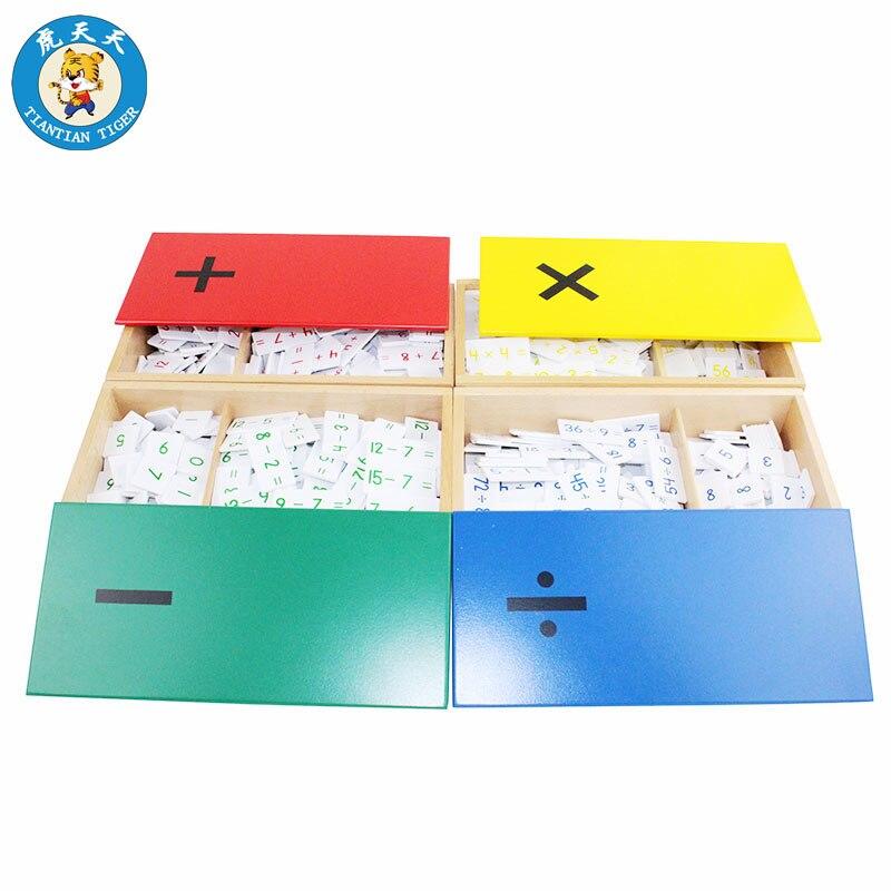 Montessori bébé mathématiques jouets éducation jouets en bois Division arithmétique mentale Multiplication soustraction et Addition boîtes