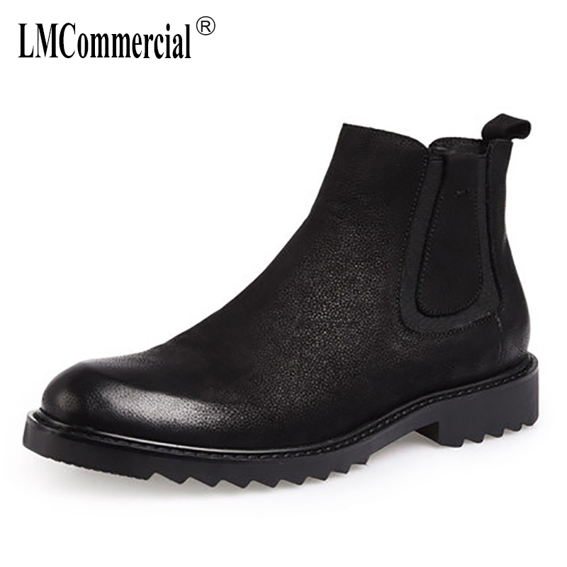 new autumn winter British retro male Genuine leather men's boots Martin boots shoes men Chelsea boots male all-match cowhide europe martin boots male trend of korean in autumn and winter in men shoes chelsea leather boots british retro men casual boots