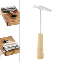 Portable Wooden Handle Metal Thumb Piano Tuning Hammer for All Size Kalimbas