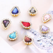 New 20pcs sew on rhinestones Drop crystal glass Crystal buckle Sewing Diy clothing accessories Free shipping