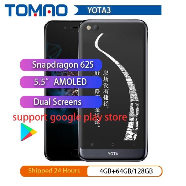 "Nieuwe Yota 3 Yota3 Yotaphone 3 Octa Core 4G + 64G OS7.1 Dual Screen 5.5 ""Fhd Scherm 5.2"" Touch E Ink Snapdragon Smart Telefoon Playstore"