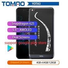 """Yota 3 smartphone Yotaphone 3 Octa Core, 4G + 64G, OS7.1, pantalla Dual de 5,5 """"FHD, pantalla táctil e ink de 5,2"""", Snapdragon, Play Store"""