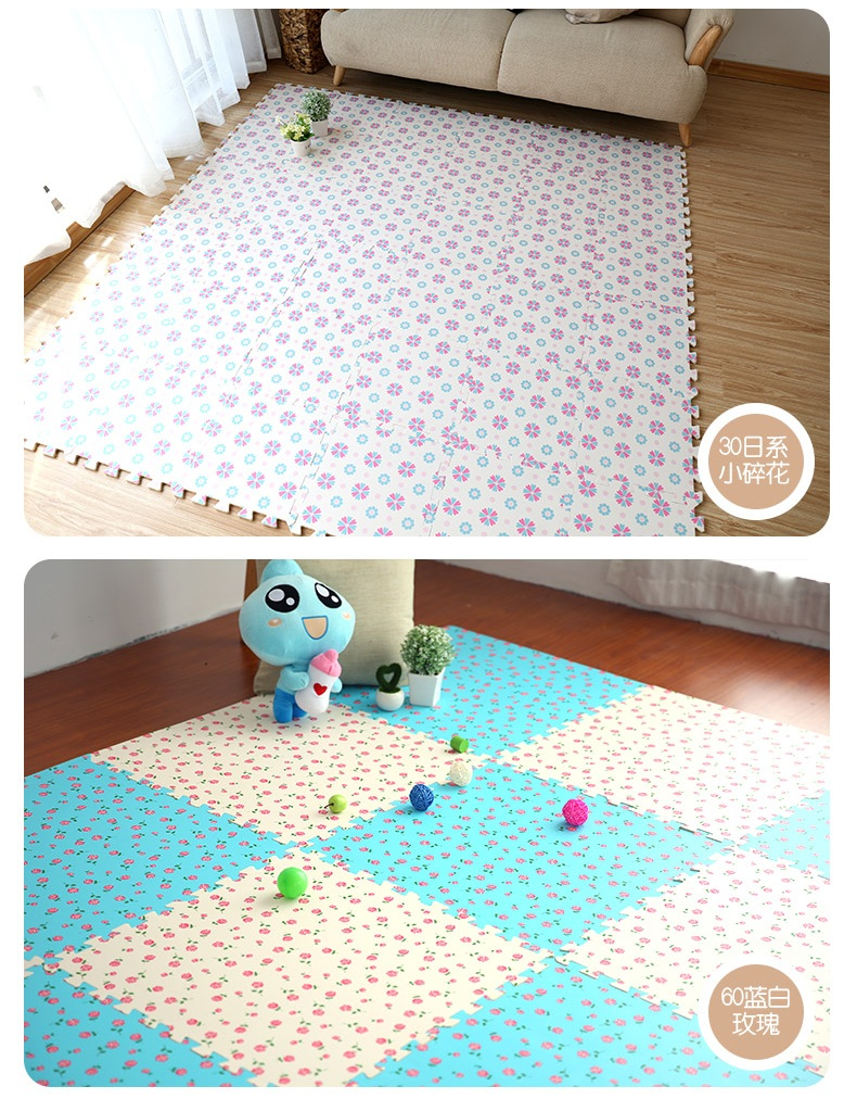 Relaxing Neeu Baby Puzzle Mat Toddler Eva Foam Play Mat Children Wood Carpet Infantgym Games Playmat Rug Soft Puzzle Floral Play Mat Eva Foam Baby Puzzle Playmat Tiles Non baby Foam Play Mat