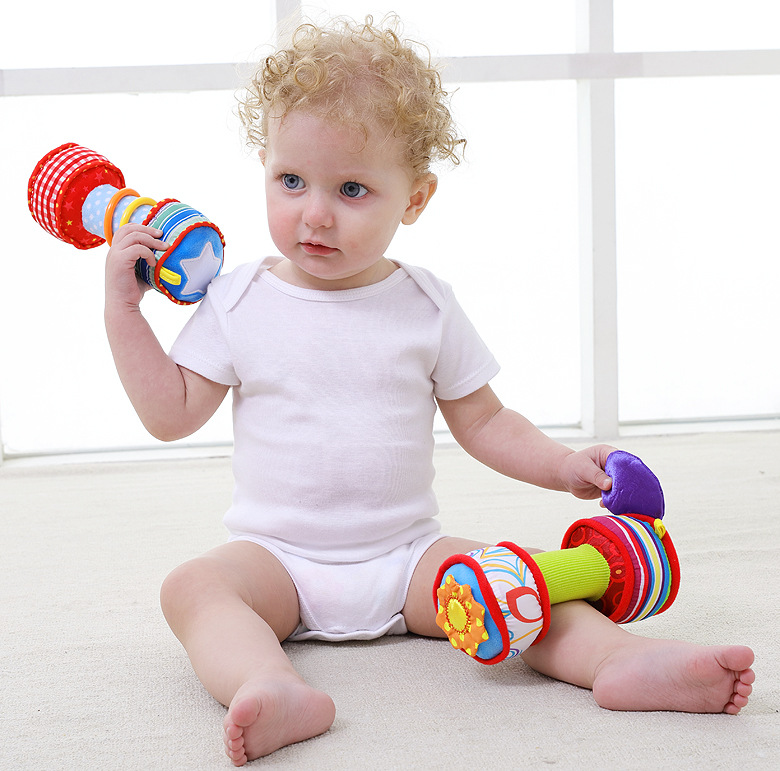 2018 Funny Baby Rattles Plush Toys 0-12 Month Hand Bells Multifunctional Baby Dumbbell Plush Education Toys For Children