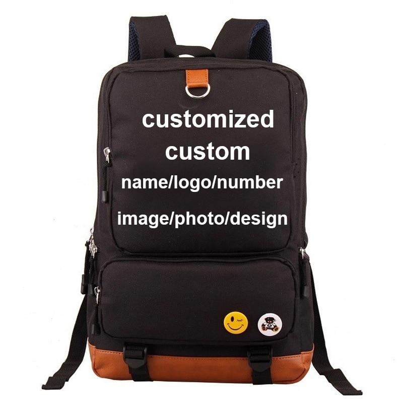 Custom Add Name Logo Letter Number Customized Boy Girl Children School -7968