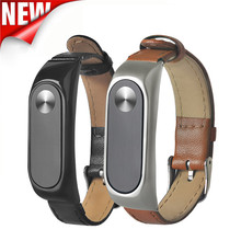 New Business Lightweight Leather Smart Wrist Watch Strap For Xiaomi Miband 2 Free Shipping H1T07