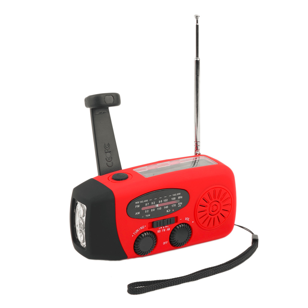 Radio Selfless Protable Radio 3 In 1 Emergency Charger Hand Crank Generator Wind/solar/dynamo Powered Fm/am/wb Radio Led Flashlight Waterproof Vivid And Great In Style Portable Audio & Video